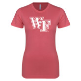 Next Level Ladies SoftStyle Junior Fitted Pink Tee-WF