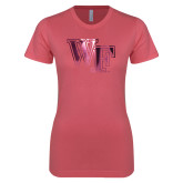 Next Level Ladies SoftStyle Junior Fitted Pink Tee-WF Foil
