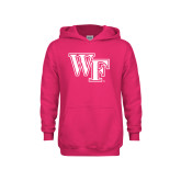 Youth Raspberry Fleece Hoodie-WF