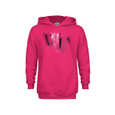 Youth Raspberry Fleece Hoodie-WF Foil