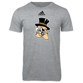 Adidas Sport Grey Logo T Shirt-Deacon Head