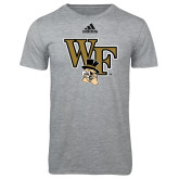 Adidas Sport Grey Logo T Shirt-WF w/ Deacon Head
