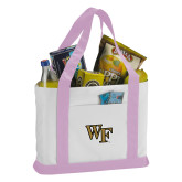 Contender White/Pink Canvas Tote-WF