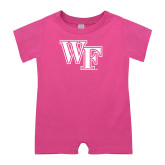Bubble Gum Pink Infant Romper-WF