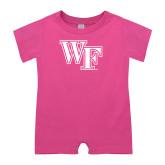 Bubble Gum Pink Infant Romper-WF