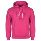 Fuchsia Fleece Hood-WF Foil