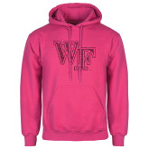 Fuchsia Fleece Hoodie-WF Hot Pink Glitter
