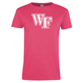 Ladies Fuchsia T Shirt-WF