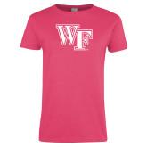 Ladies Fuchsia T Shirt-WF