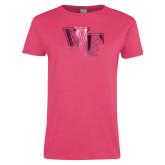 Ladies Fuchsia T Shirt-WF Foil