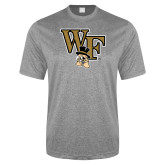 Performance Grey Heather Contender Tee-WF w/ Deacon Head