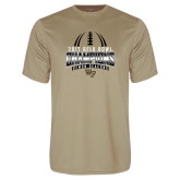 Performance Vegas Gold Tee-2017 Belk Bowl Champions - Football Stacked