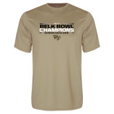 Performance Vegas Gold Tee-2017 Belk Bowl Champions - Stacked Bars