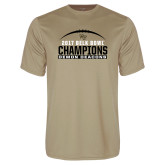Performance Vegas Gold Tee-2017 Belk Bowl Champions - Football Arched