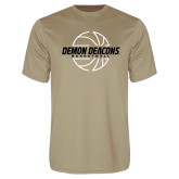 Performance Vegas Gold Tee-Basketball Outline Design
