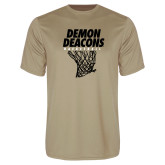 Performance Vegas Gold Tee-Basketball Net Design