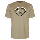 Performance Vegas Gold Tee-Baseball Plate Design
