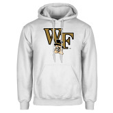 White Fleece Hoodie-WF w/ Deacon Head