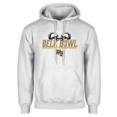 White Fleece Hoodie-Belk Bowl - Helmets Design
