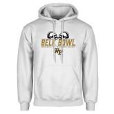 White Fleece Hoodie-Belk Bowl - Helmets Design