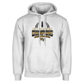 White Fleece Hoodie-2017 Belk Bowl Champions - Football Stacked