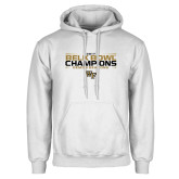 White Fleece Hoodie-2017 Belk Bowl Champions - Stacked Bars