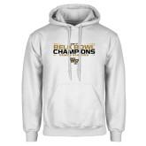 White Fleece Hoodie-2017 Belk Bowl Champions - Stacked Bars
