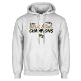 White Fleece Hoodie-2017 Belk Bowl Champions - Brush Script