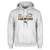 White Fleece Hoodie-2017 Belk Bowl Champions - Brush Script
