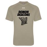 Under Armour Vegas Gold Tech Tee-Basketball Net Design