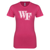 Ladies SoftStyle Junior Fitted Fuchsia Tee-WF