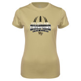 Ladies Syntrel Performance Vegas Gold Tee-2017 Belk Bowl Champions - Football Stacked