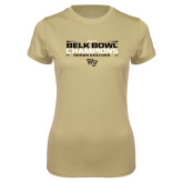 Ladies Syntrel Performance Vegas Gold Tee-2017 Belk Bowl Champions - Stacked Bars