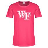 Ladies Performance Hot Pink Tee-WF