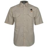 Khaki Short Sleeve Performance Fishing Shirt-Deacon Head