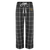 Black/Grey Flannel Pajama Pant-WF