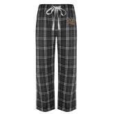Black/Grey Flannel Pajama Pant-WF