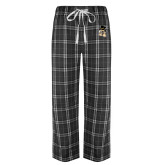 Black/Grey Flannel Pajama Pant-Deacon Head