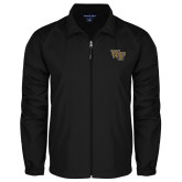 Full Zip Black Wind Jacket-WF