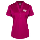 Ladies Ogio Deep Berry Fashion Henley-WF