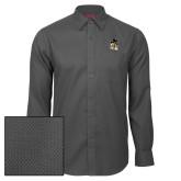 Red House Dark Charcoal Diamond Dobby Long Sleeve Shirt-Deacon Head