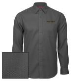 Red House Dark Charcoal Diamond Dobby Long Sleeve Shirt-Wake Forest