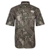 Camo Short Sleeve Performance Fishing Shirt-WF