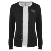 Ladies Black Cardigan-WF