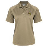 Ladies Vegas Gold Textured Saddle Shoulder Polo-WF