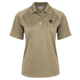 Ladies Vegas Gold Textured Saddle Shoulder Polo-Deacon Head
