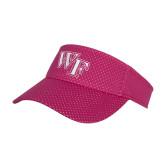 Pink Athletic Mesh Visor-WF