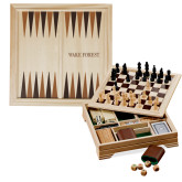 Lifestyle 7 in 1 Desktop Game Set-Wake Forest Engraved