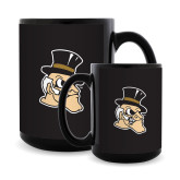 Full Color Black Mug 15oz-Deacon Head