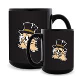Full Color Black Mug 15oz-Deacon Head